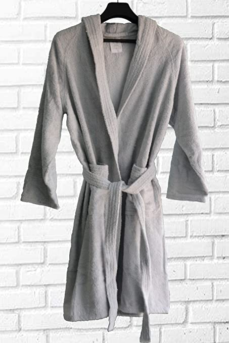 Loomkart Very Fine Export Quality Bath Robes in Gray with Hood in Avioni Zip -Packing Unisex -XXL  Amazon.in  Home   Kitchen 310504ac8