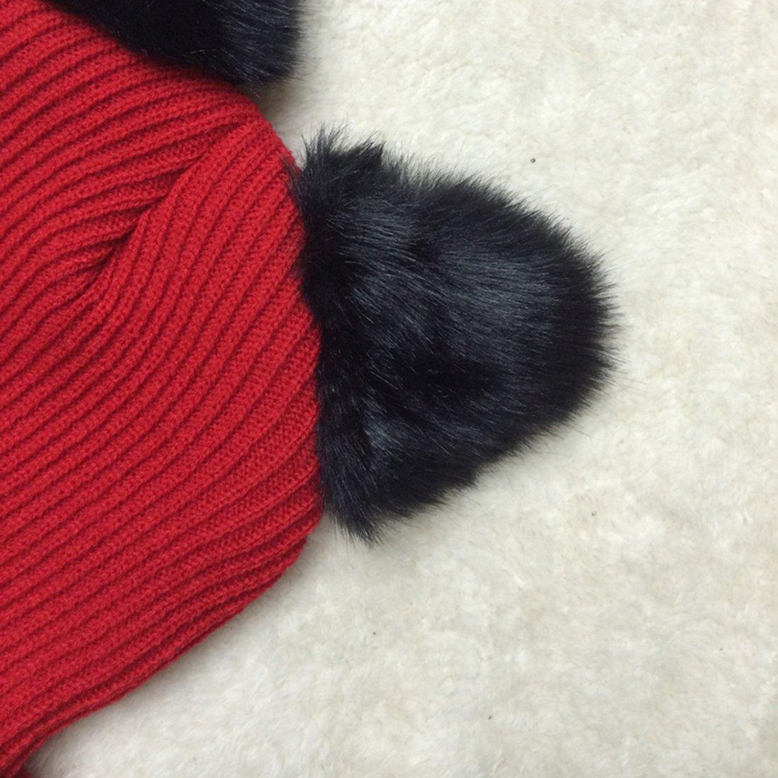 2717e042e1411 NW 1776 Sombrero de mujer gato oreja ganchillo trenzado de punto gorras  snowboard caliente invierno