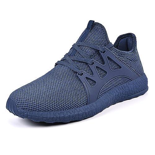 QANSI Mens Trainers Athletic Walking Running Gym Shoes Sporting Shoe (6 UK,  Blue)