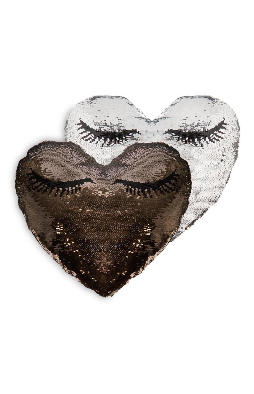 Azafrán Barker, corazón de lentejuelas Cojín You Tubo ...