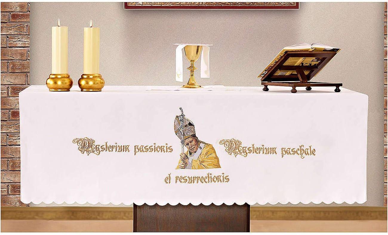 Holyart Mantel de Altar 165x300 cm San Juan Pablo II: Amazon.es: Hogar