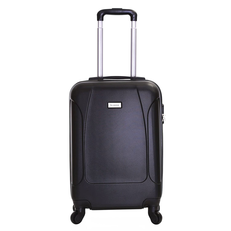 Slimbridge Alameda Trolley ABS bagaglio a mano 55x35x20 cm - Valigia rigida con 4 ruote. Ideale a bordo di Ryanair, Alitalia, Meridiana, EasyJet, WizzAir e altro, Bianco Perla Karabar Ltd