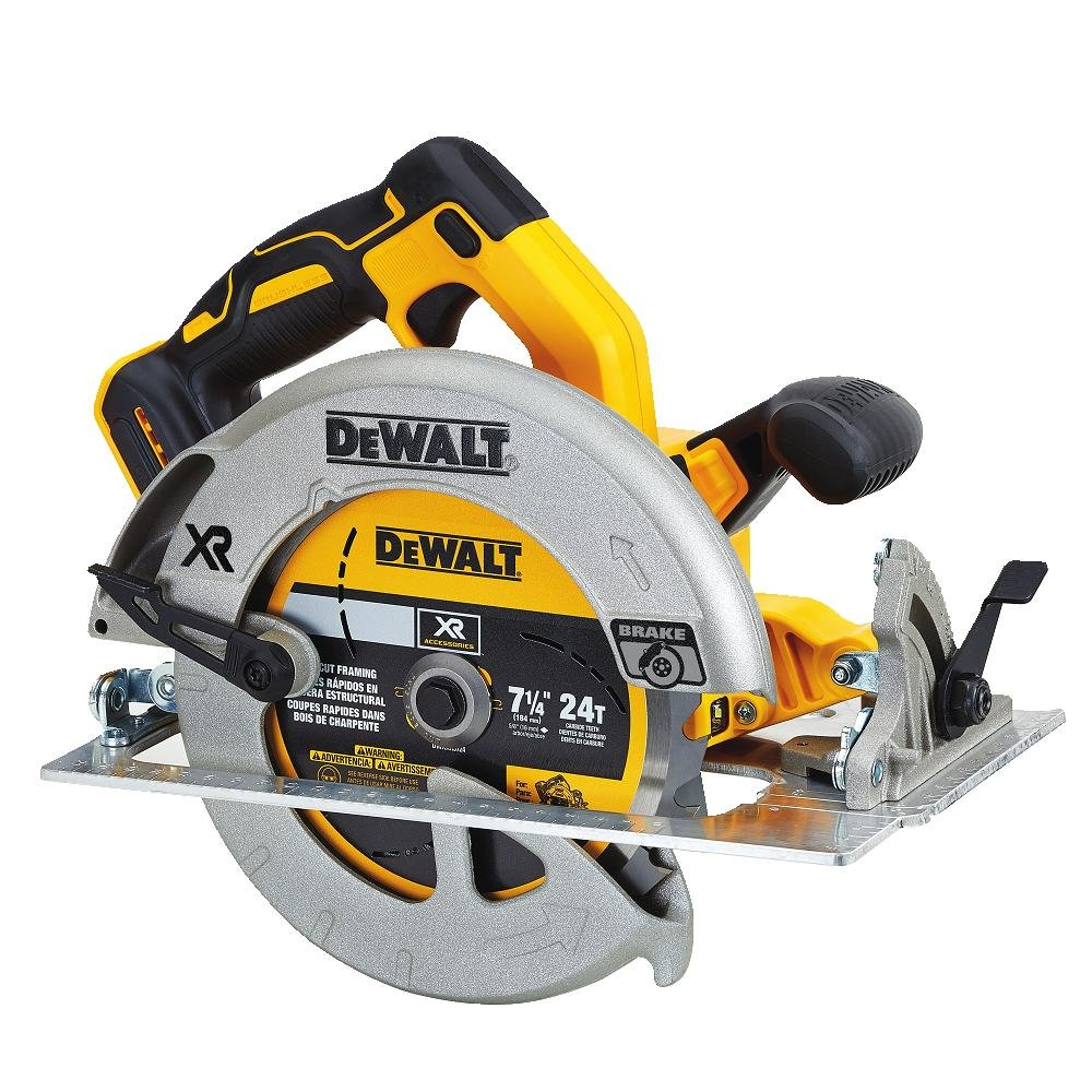 "DEWALT DCS570B7-1/4"" (184mm) 20V Cordless Circular Saw with Brake (Tool Only)"