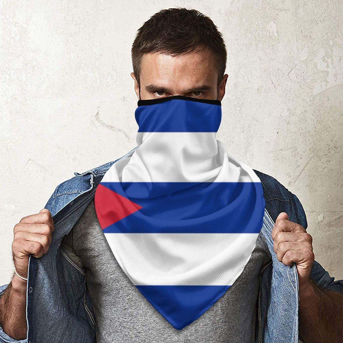 passamontagna bandiera Cuba per escursionismo allaperto Ciclismo Runn Sciarpa viso Protezione solare Bandana Ghette collo Maschera antivento traspirante