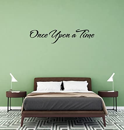 Amazon Dsgfe Once Upon A Time Wall Sticker Family DIY Decor Art Stickers Home For Kids Living Room Bedroom Bathroom Office