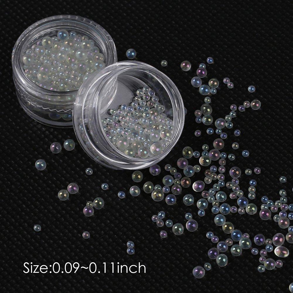 15 juegos de kit para hacer slime, bolas coloridas de poliestireno grandes y pequeñas, perlas de pecera, rodajas de frutas, cuentas de burbujas y ...