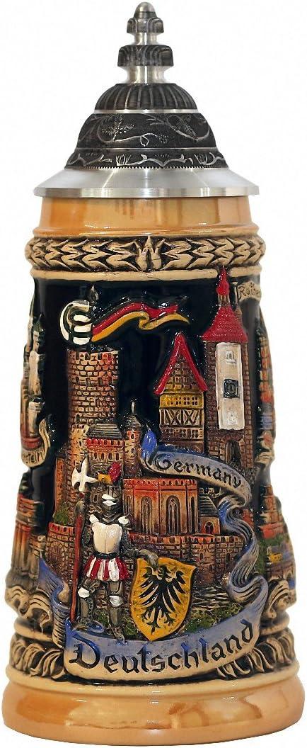 Zöller & Born Jarra de Cerveza Alemania con una tapadera de estaño, Amarillo, Jarra 0,5 litros ZO 1746/996
