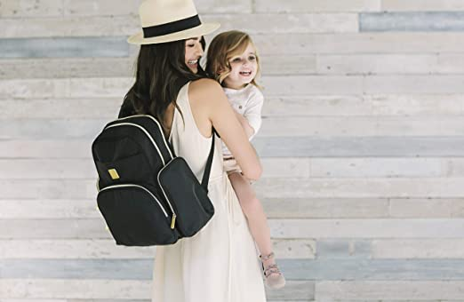 plegable, multifunci/ón, impermeable, incluye cambiador para viajes Ergobaby Mochila para beb/é color gris