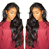 Cici Collection 360 Lace Frontal Wig Pre Plucked Bleached Knots 180% Density Lace Front Human Hair Wigs For Women 360 Lace Wig Lace Front Wigs Human Hair with Baby Hair