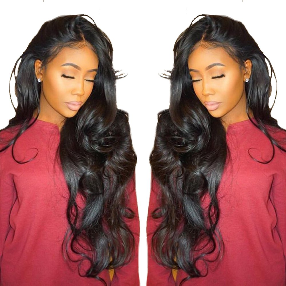 Cici Collection 360 Lace Frontal Wig Pre Plucked Bleached Knots 180% Density Lace Front Human Hair Wigs For Women 360 Lace Wig Lace Front Wigs Human Hair with Baby Hair(20inch, Body Wave)