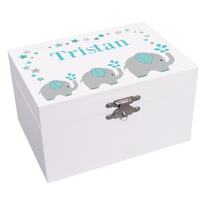 【返品送料無料】 Personalizedグレーand Teal Teal Elephantバレリーナ音楽ジュエリーボックス B072JDZ4BQ, フェアリーネイル:9f939ad3 --- arcego.dominiotemporario.com