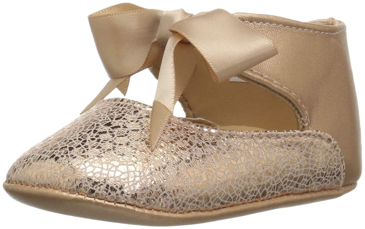 Baby Deer Girls' 02-4795 Ballet Flat, Rose Gold, 1 Medium US Infant