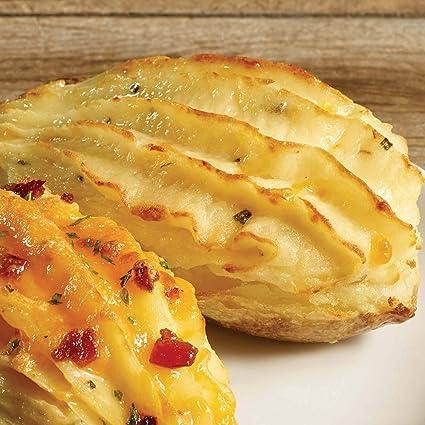 6 patatas de doble horneado con crema de calor, Cheddar y ...