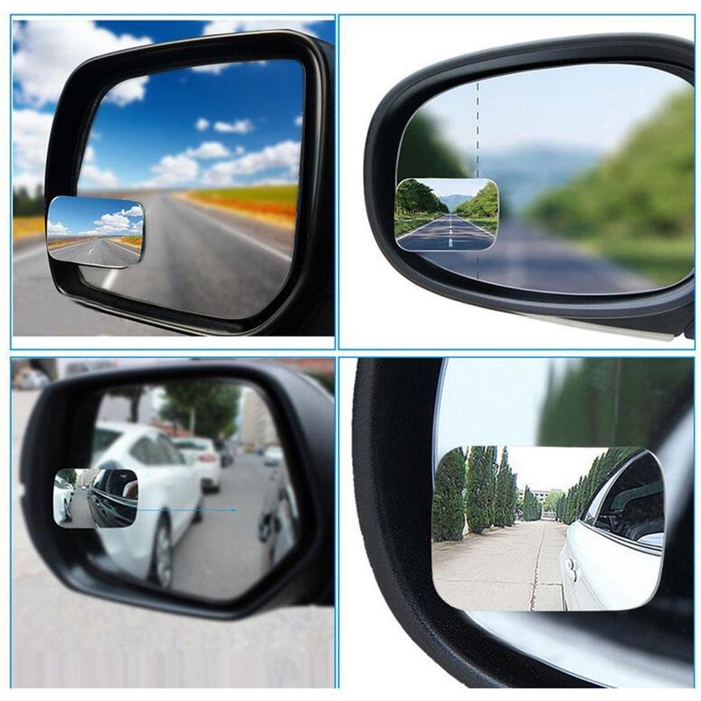 Slim AOLVO no-blind-Spot R/ückspiegel Mini Blind Spot Spiegel 360//° verstellbar rahmenlose Auto Stick auf Weitwinkel Spiegel f/ür alle Universal Fahrzeuge 2/St/ück
