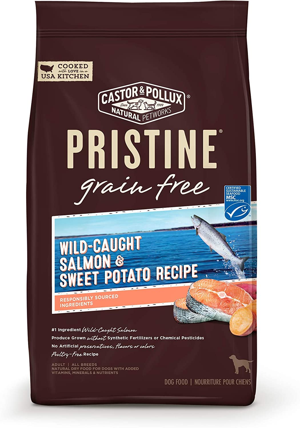 Pristine Wild-Caught Salmon & Sweet Potato Recipe, 4 lb