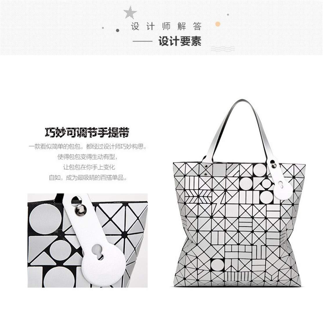 Geometrische Geometrische Geometrische Lingge Matte Frauen Handtaschen Große Kapazität Tragbare Umhängetasche Geldbörse braun 40x40 cm B07N1GMNVD Messenger-Bags 17b908