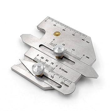 Calibre de soldaje calibre soldadura inspección de altura del cordón multifuncional hjc40: Amazon.es: Bricolaje y herramientas