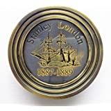 Kartique Nautical Pocket Compass Size 1.5 Inch with Ship Engraving- for Direction/Travelling/ Voyage