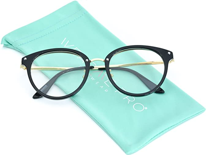 b0fe3c108c Image Unavailable. Image not available for. Color  WearMe Pro - Round  Hipster Non Prescription Clear Glasses