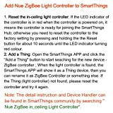 Smart SmartThings ZigBee in-ceiling light switch