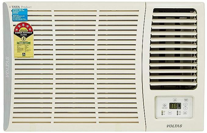 Voltas 1 5 Ton 5 Star Window Ac Copper185 Dza 185 Dza R32 White Amazon In Home Kitchen
