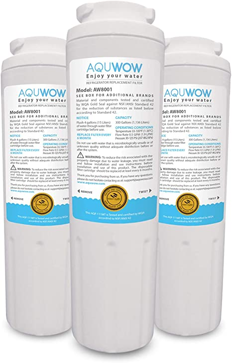 Whirlpool 4396395 3-Pack Refrigerator Water Filter for Maytag UKF8001 EDR4RXD1