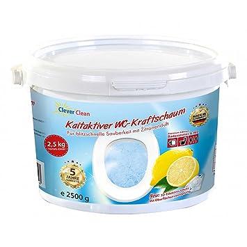 Clever Clean kaltaktiver WC-Kraftschaum 2,5kg Reinigungspulver WC ...