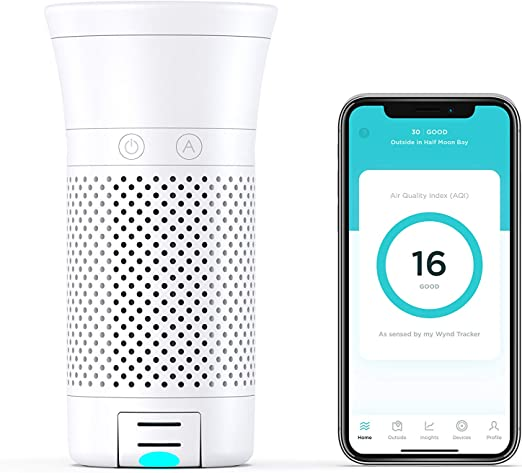 WYND Smart Portable Air Purifier (purificador de ar portátil ...