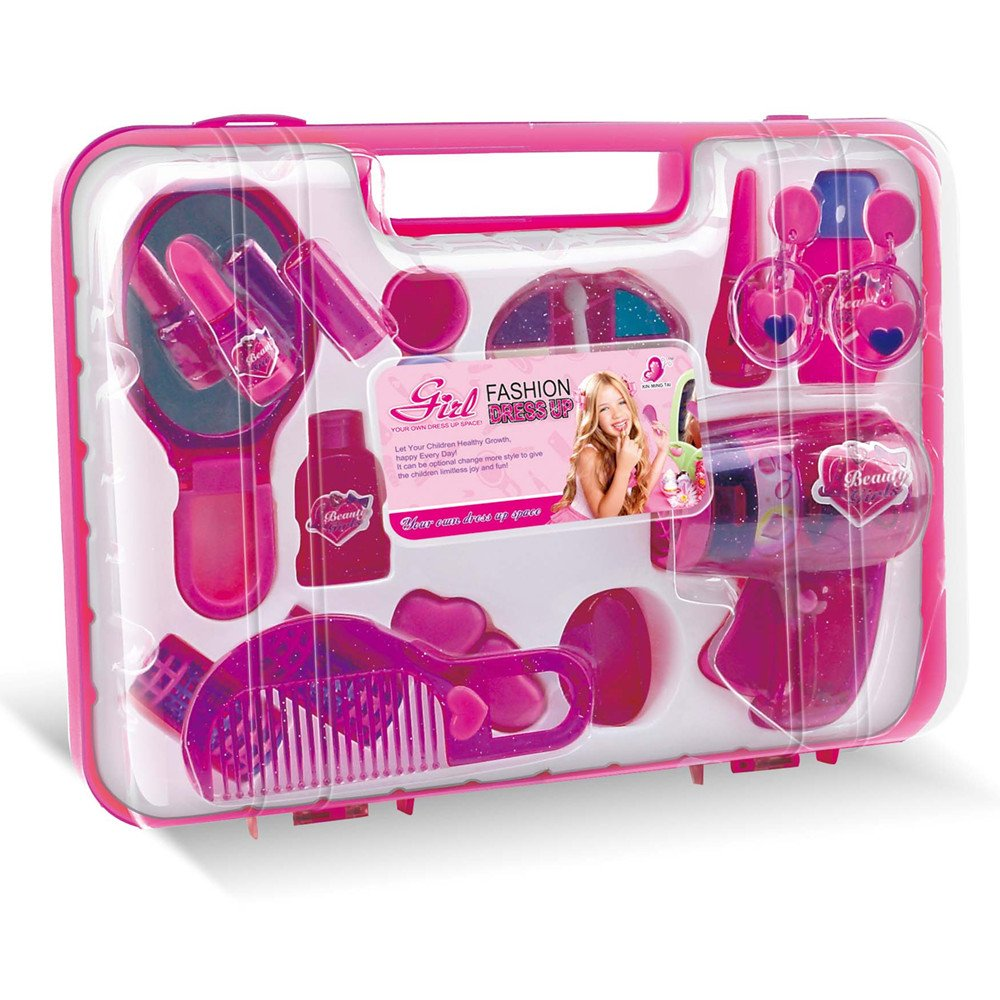 Amazon.com: WPS Pretend Play Accessories Cosmetic Set Make up Play ...