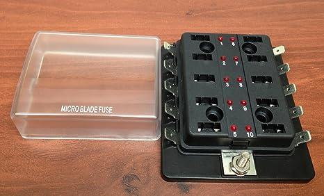 71P7%2BkZZCtL._SX466_ amazon com micro blade fuse block holder led indicator marine boat