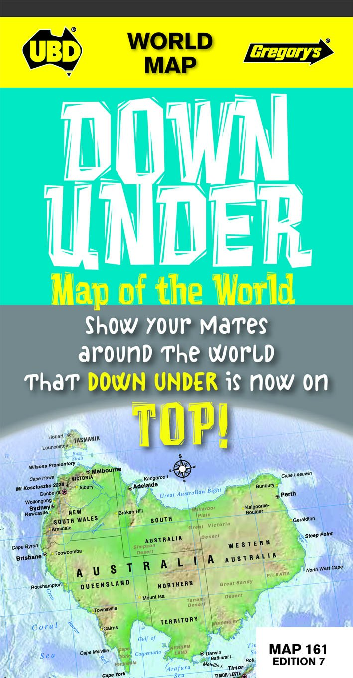 Download World Down Under Map of the World #161 UBD (Folded) ebook