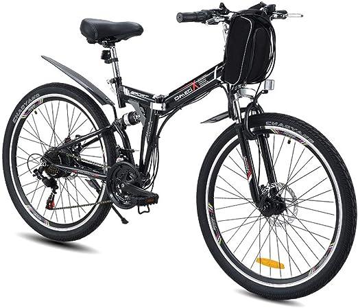 Bicicleta eléctrica de 26 Pulgadas Bicicleta de montaña E-Bici Plegable, 350W 48V Doble suspensión Bobang Bahrein batería,26 Inch Black-Retro Wire Wheel: Amazon.es: Hogar
