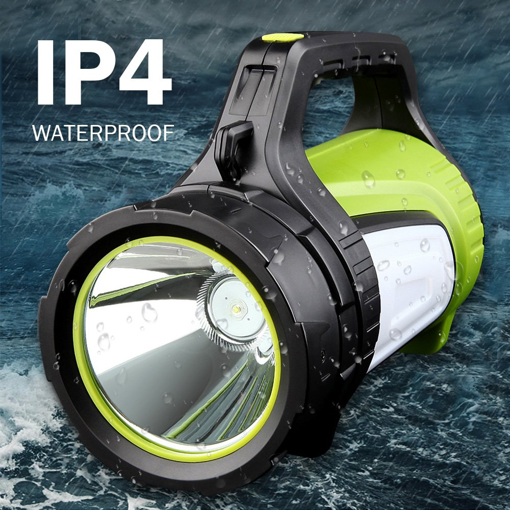 Rechargeable Spotlight Searchlight,Rechargeable Flashlight- 10 Modes Multifunction Super Bright Outdoor Camping Lights with USB Ports to Charge Mobile Devices and Special SOS Modes by Hallomall (Image #5)