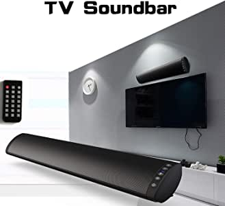 Bluetooth Soundbar Speaker for TV, Home Theater 360 ° Surround Sound Stereo, Multi-Functional Bluetooth/TF Card/U Disk /3.5 Millimeter Wall