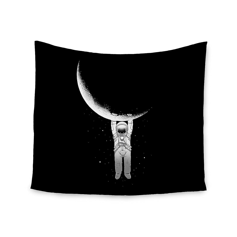 51 x 60 Kess InHouse Digital Carbine Help Black White Wall Tapestry