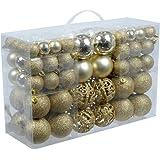 Esclusivo palline di Natale palle di Natale SET con 100 pcs colore oro