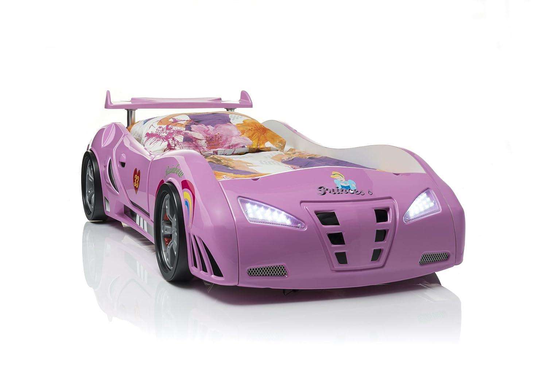 Mädchenbett Autobett Kinderbett Princess in Pink mit Lattenrost und ...