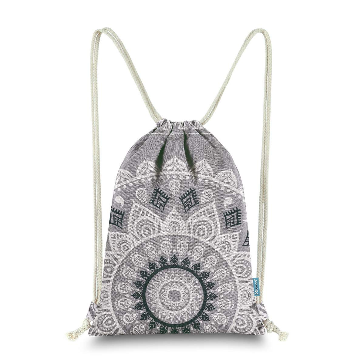 Miomao Drawstring Backpack Gym Sack Pack Mandala Style String Bag With  Pocket Canvas Sinch Sack Sport Cinch Pack Christmas Gift Bags Beach  Rucksack 13 X 18 ... fe7c1f5ed7