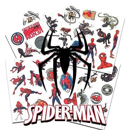 38992e23e Amazon.com: Spider-Man Temporary Tattoos - 50 Tattoos per Package!: Toys &  Games