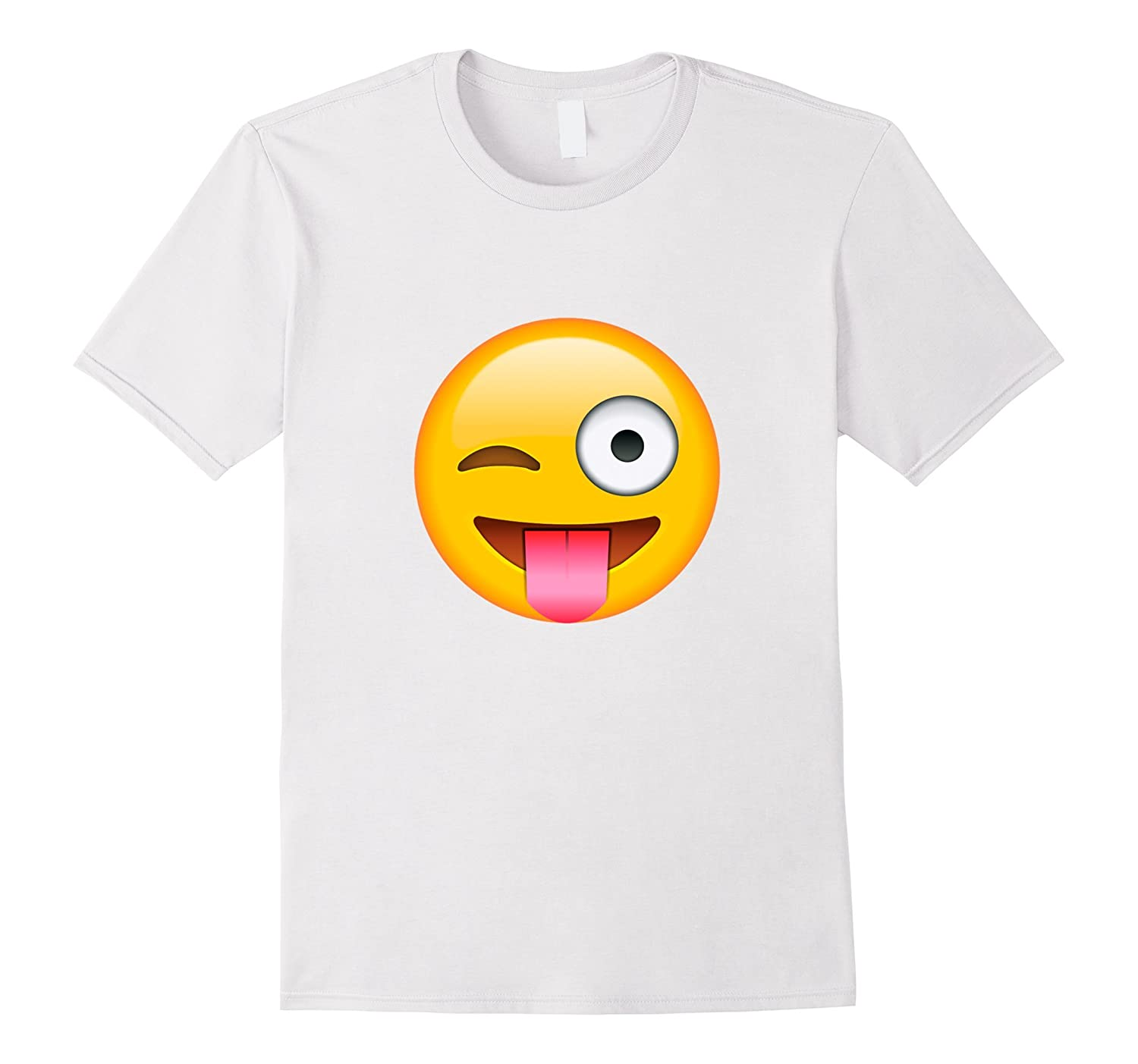 295cfc6b4 Face Emoticon Tongue Out Emoji with Winking Eye T-shirt-ANZ - Anztshirt
