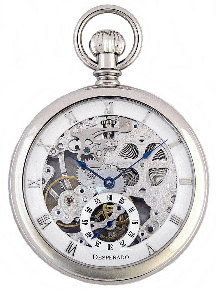 Desperado ''Golden Gate'' Pocket Watch High Grade Skeletonized 17 Jewel Movement Glass Crystals by Desperado