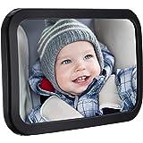 Spiegel Auto Baby, TOPELEK 30×19 CM/11.8×7.5 Zoll Große Größe Baby Rückspiege Rücksitzspiegel Autospiegel Rear View Mirror Car Rückspiegel drehbar mit Shatterproof Material für Baby Kinderbeobachtung