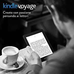 """E-reader Kindle Voyage, schermo da 6"""" ad alta risoluzione (300 ppi) con luce integrata a regolazione automatica, sensori VoltaPagina, Wi-Fi"""