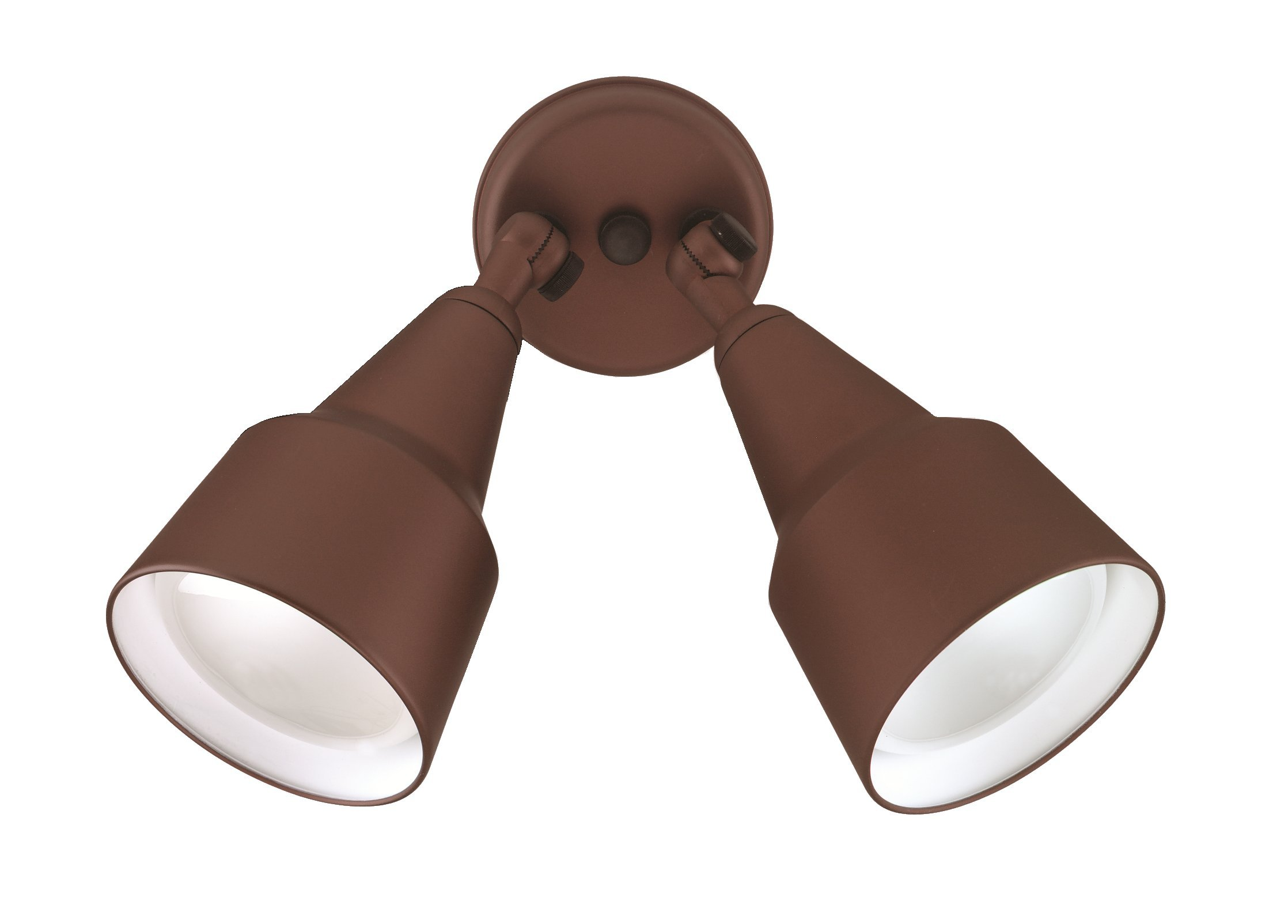 NICOR Lighting 150-Watt Double Cone Shaped Adjustable Outdoor Flood Light, Bronze (11128)