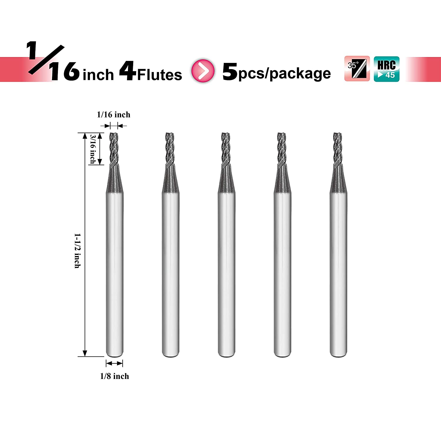 ISE1//24T AlTiBN Coating 4 Flute SPEED TIGER ISE Carbide Square End Mill Micro Grain Carbide End Mill for Alloy Steels//Hardened Steels 1 Piece, 1//2