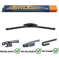 "AERO 10"" Premium All-Season OEM Quality Roc Lock 2 & 3 J-Hook Rear Wiper Blade"