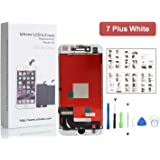 iPhone 7 Plus Screen Replacement For Lcd Touch Screen Digitizer Frame Assembly Set with 3D Touch (White)