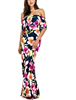 LiMiCao Summer Off Shoulder Maxi Sexy Long Evening Dress for Women Party