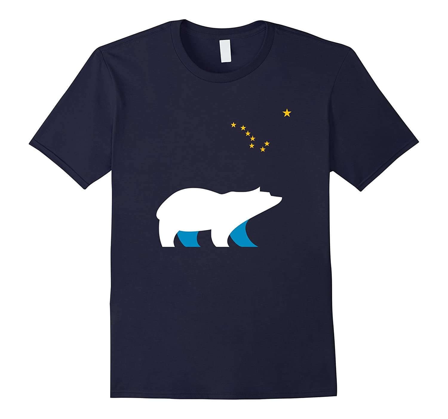 Alaska Shirt - Alaskan State Tshirt - Alaskan Bear - INCREDIBLE PREMIUM QUALITY SHIRTS - SHIPPED BY AMAZON-BN