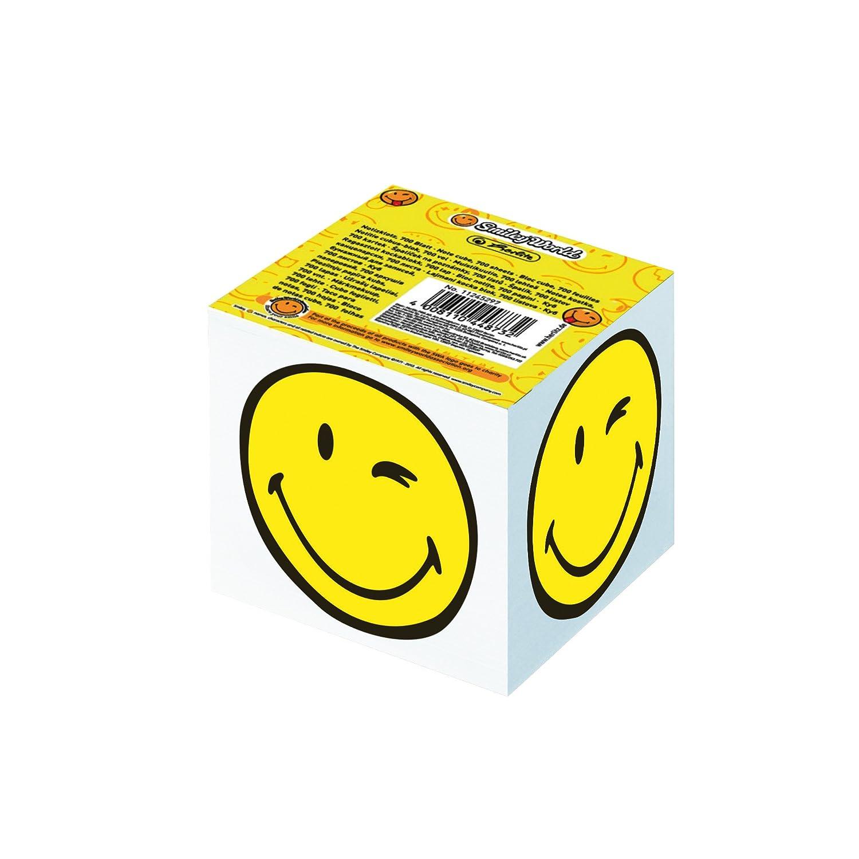 Smiley World, 8x 8x 7cm, 700feuilles notes herlitz 11245297encollé 8x 8x 7cm 700feuilles notes herlitz 11245297encollé